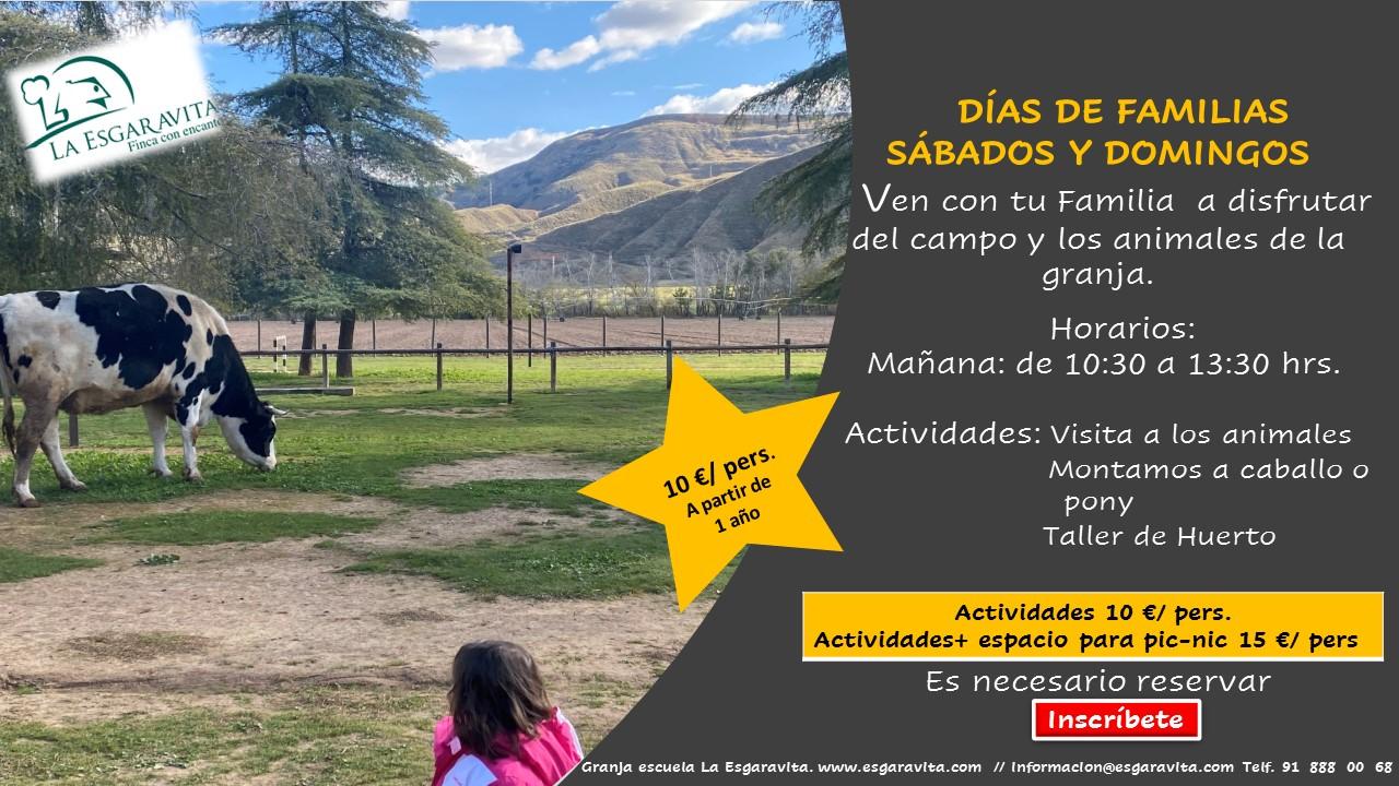 Visita Granja Escuela La Esgaravita con tu familia.